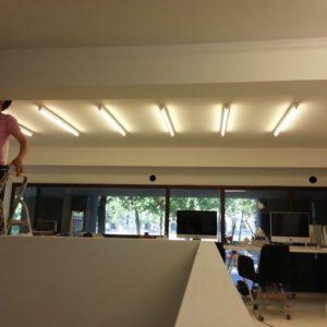 Installation éclairage bureau dijon